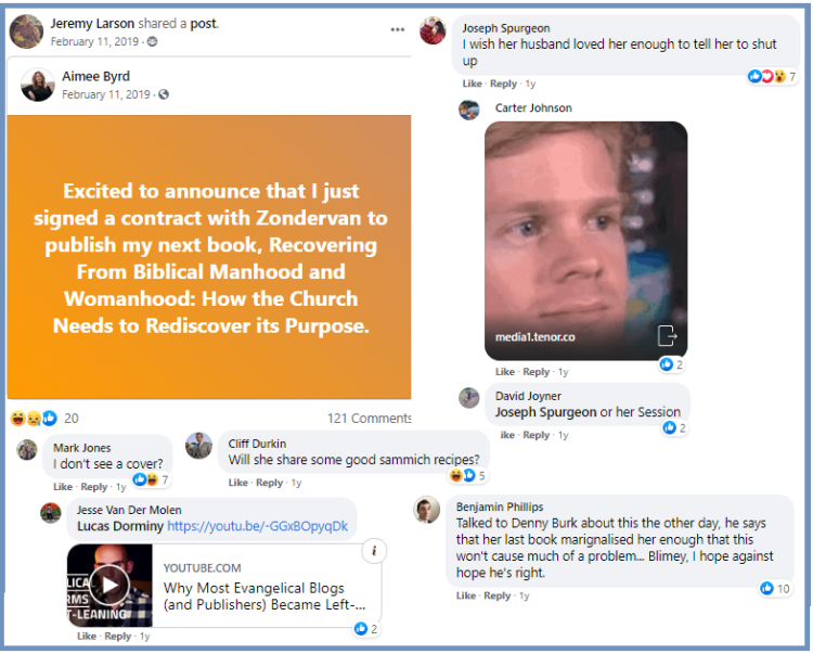 How a Reformed Facebook Group's Private Comments Turned Into a Public Dispute